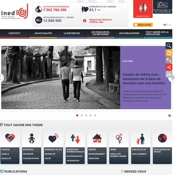 Ined - Institut national d'études démographiques