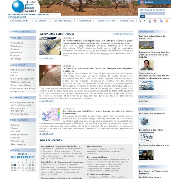 Institut Pierre Simon Laplace des sciences de l'environnement
