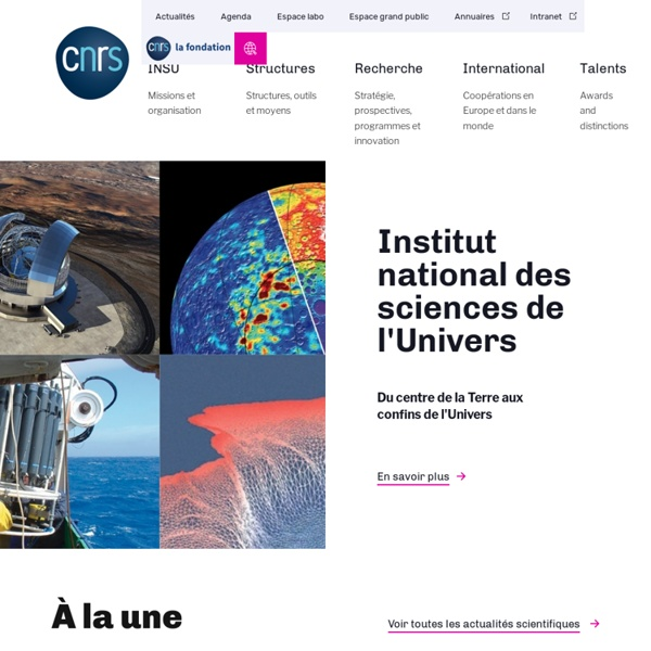 CNRS - Terre & Univers