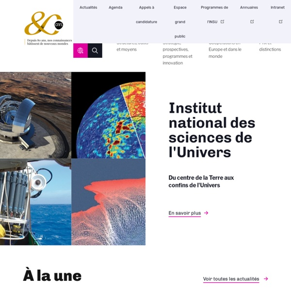 INSU : Institut national des sciences de l'Univers