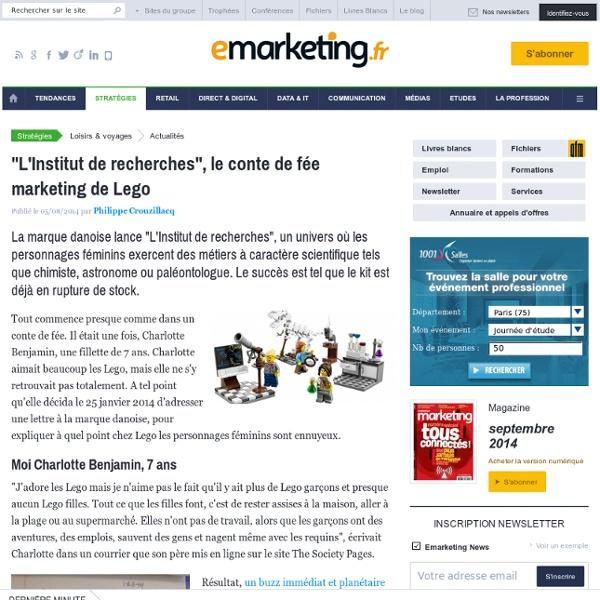 """""""L'Institut de recherches"""", le conte de fée marketing de Lego"""