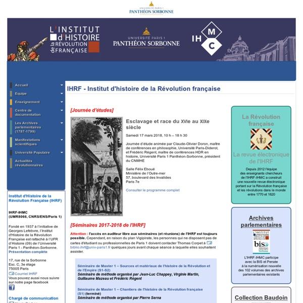 Institut d'Histoire de la Révolution française