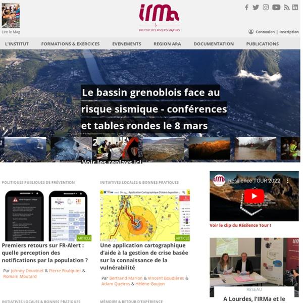 IRMa : Institut des Risques Majeurs de Grenoble (Rhône Alpes)
