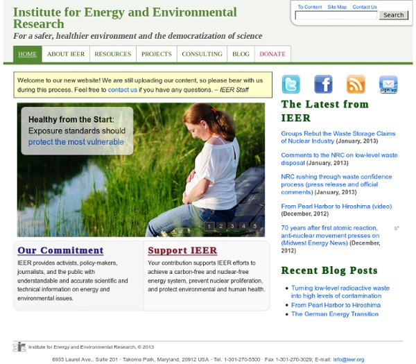 Institute for Energy and Environmental Research Homepage