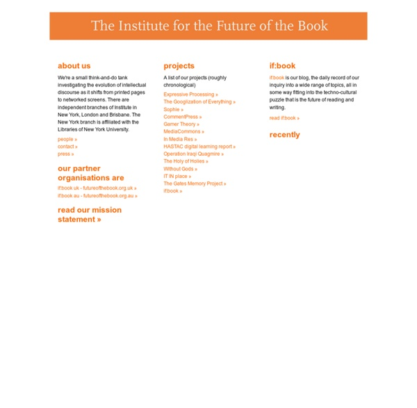 Institute for the Future of the Book