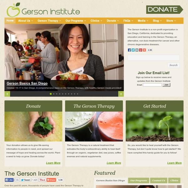 Gerson Institute - Juicing & Vegetarian