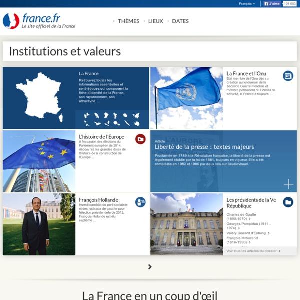 Institutions et valeurs françaises – les symboles de la république française