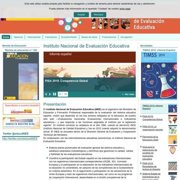 Instituto Nacional de Evaluación Educativa - INEE