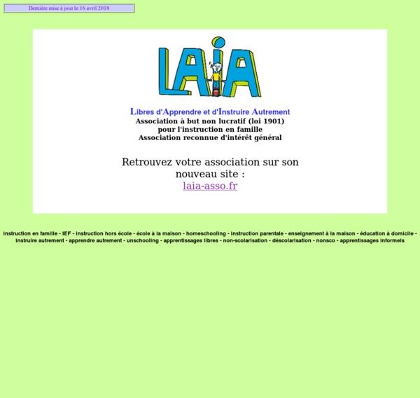 LAIA - Instruction en famille (école à la maison) - Accueil