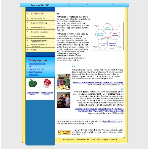 Instructional Strategies Online