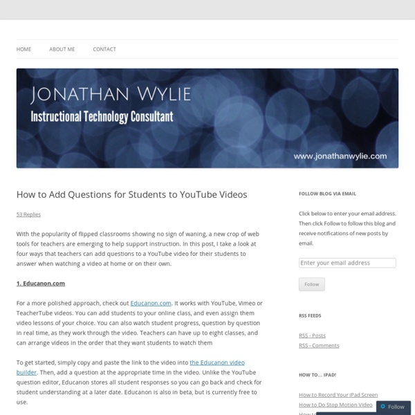 How to Add Questions for Students to YouTube Videos