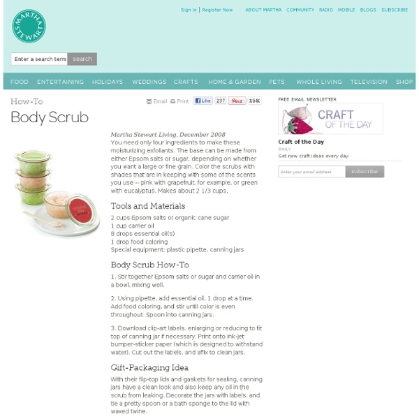 Body Scrub - Martha Stewart Crafts by Material