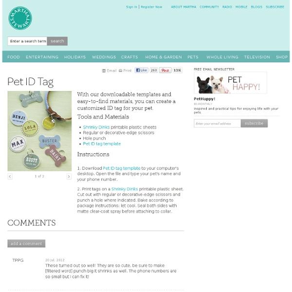 Pet ID Tag - Martha Stewart Pets