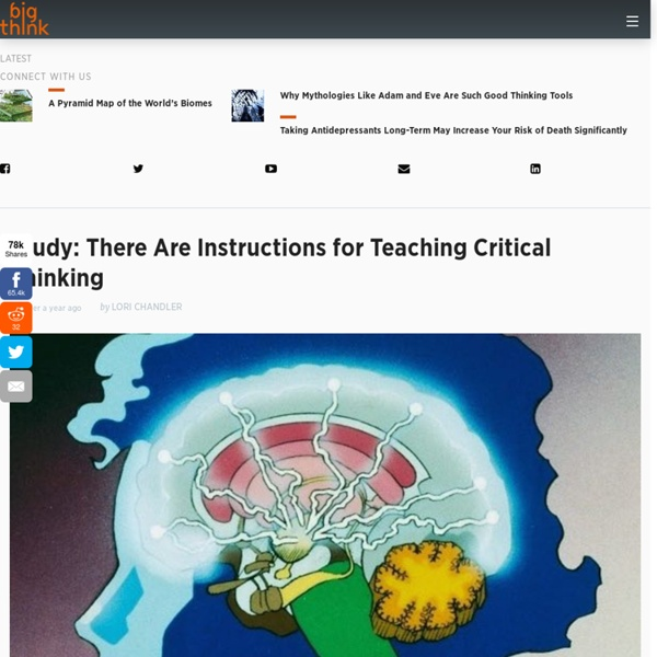 Study: There Are Instructions for Teaching Critical Thinking