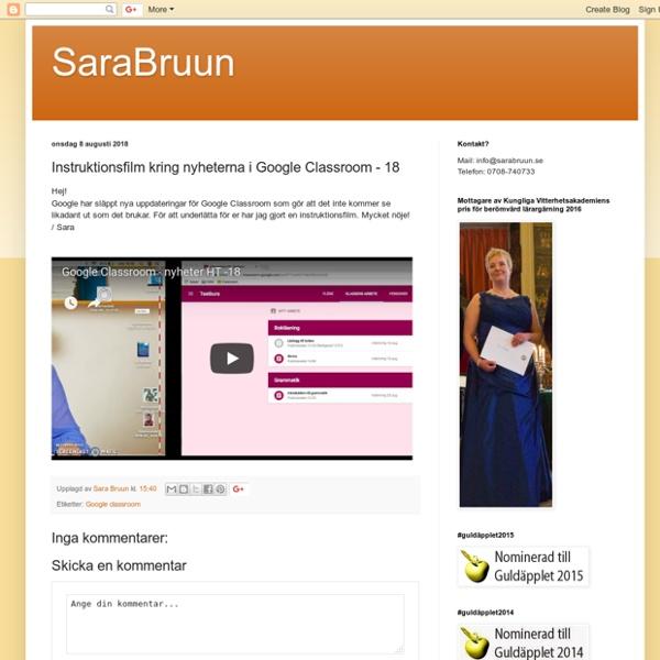 Instruktionsfilm kring nyheterna i Google Classroom - 18