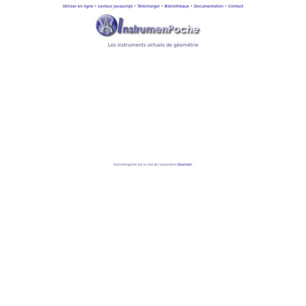 Instrumenpoche, les instruments virtuels de géométrie