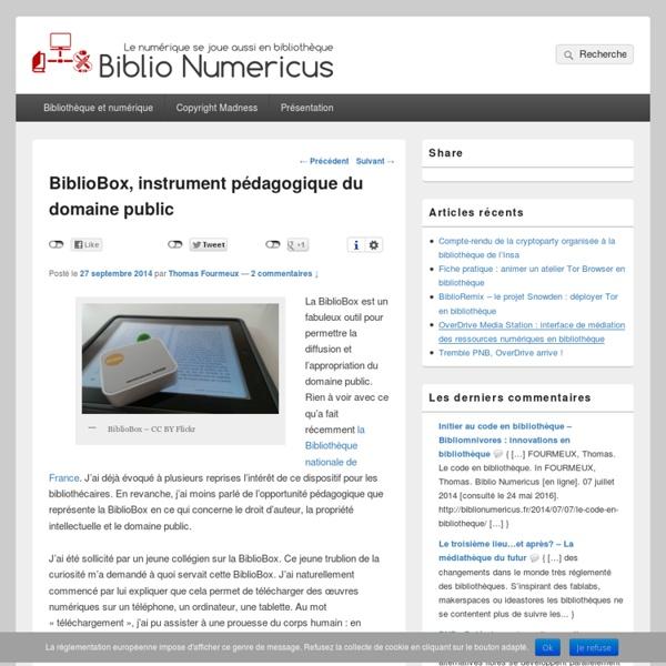 BiblioBox, instrument pédagogique du domaine public
