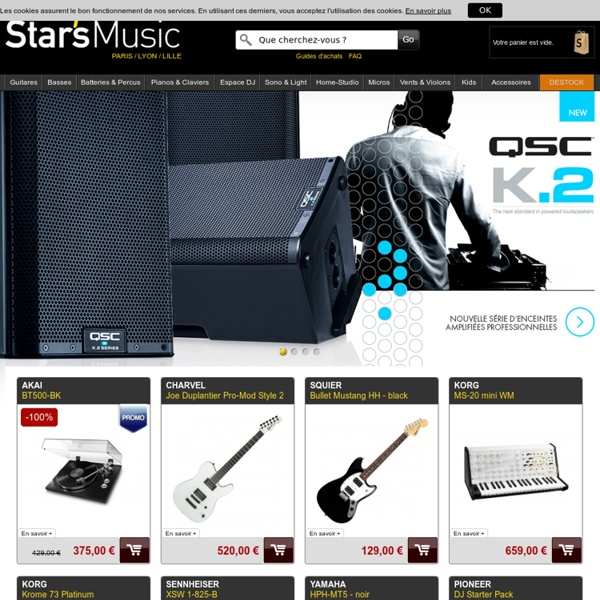 Star's Music - Site de vente d'intruments de musique et matériel