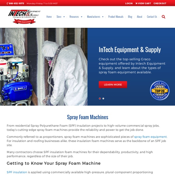 Sprayfoam Equipment Supplies