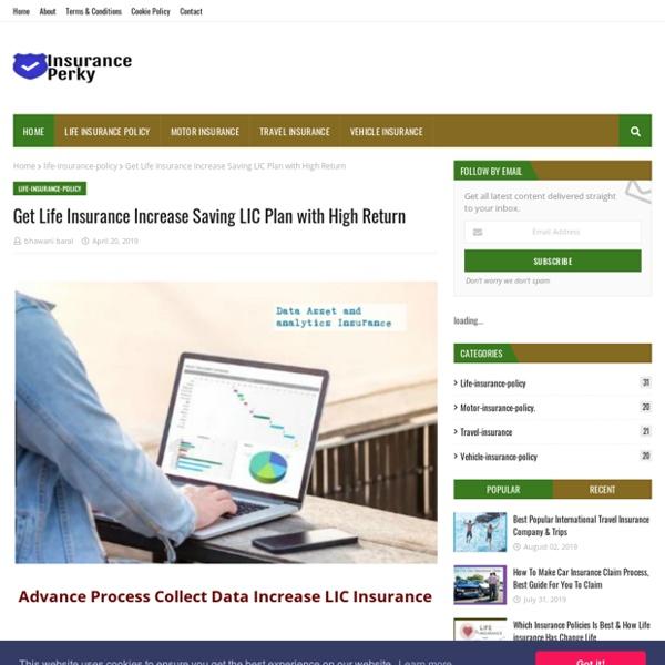 Get Life Insurance Increase Saving LIC Plan with High Return