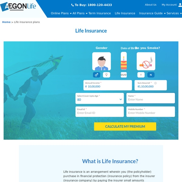 Life Insurance Plans Online in India – Aegon Life