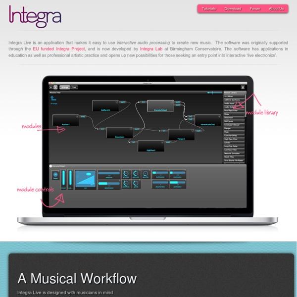 Integra Live – Interactive audio made simple