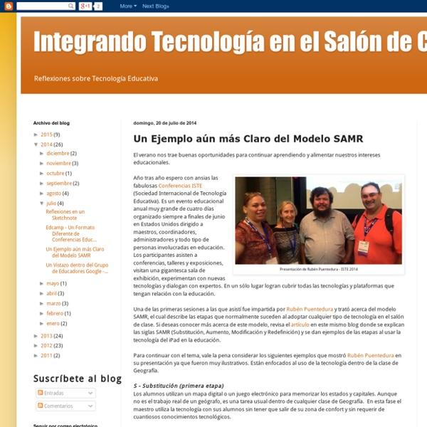 Integrando Tecnología en el Salón de Clase: Un Ejemplo aún más Claro del Modelo SAMR