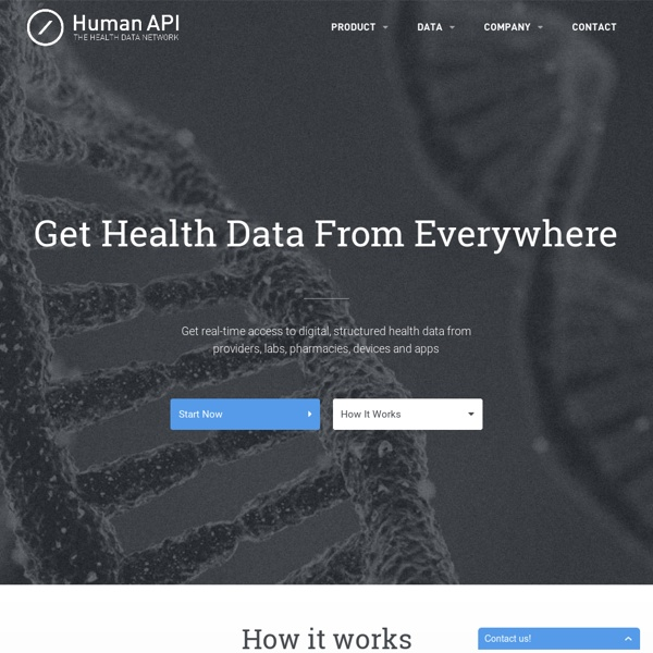 HumanAPI: An API platform for human health data