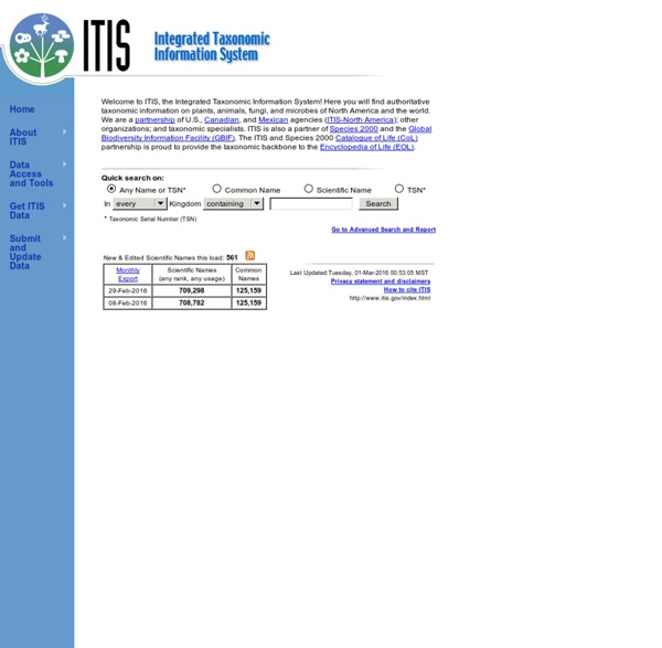 Integrated Taxonomic Information System