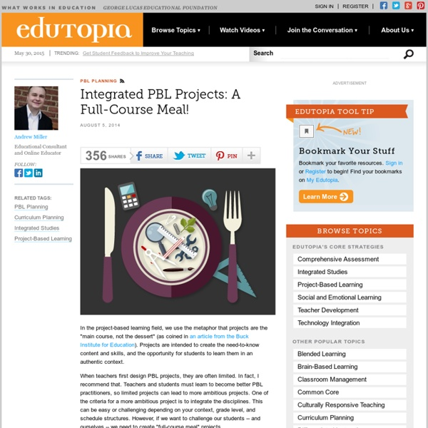 Integrated PBL Projects: A Full-Course Meal!