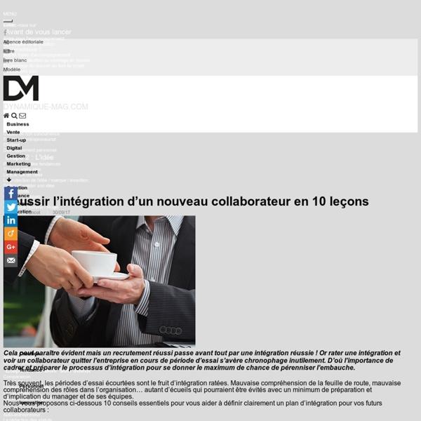 Réussir l'intégration d'un nouveau collaborateur en 10 leçons