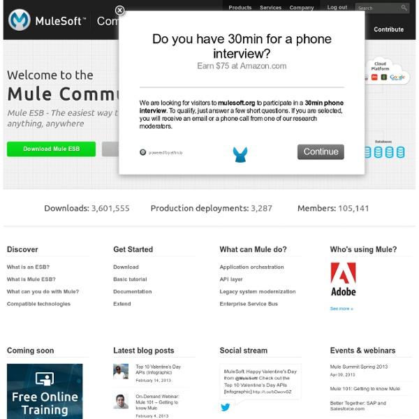 Mule ESB Community and Documentation