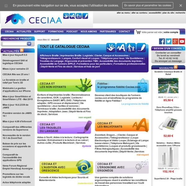 CECIAA, des solutions adaptées pour la basse-vision, les non-voyants, la dyslexie et l'accessibilité des personnes handicapées