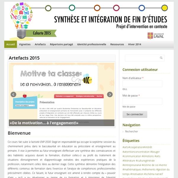 Synthèse et intégration de fin d'études