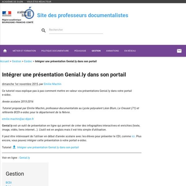 Intégrer une présentation Genial.ly dans son portail