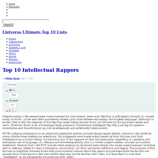 Top 10 Intellectual Rappers