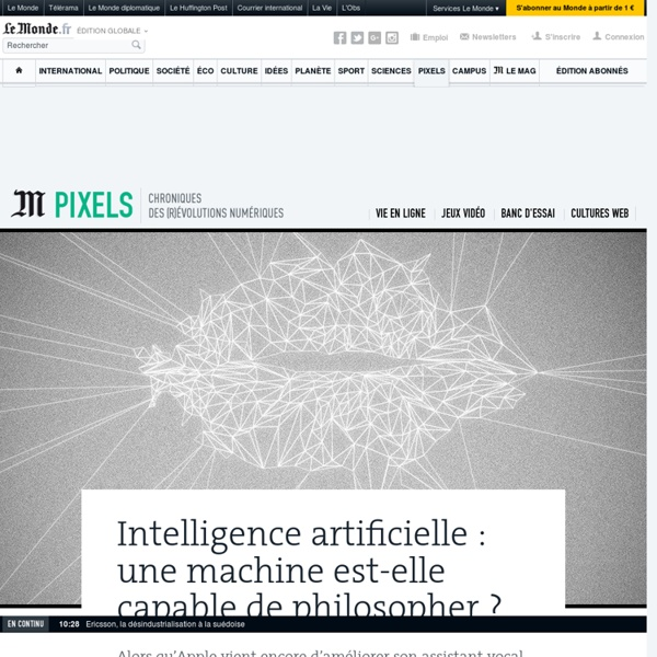 Intelligence artificielle : une machine est-elle capable de philosopher ?