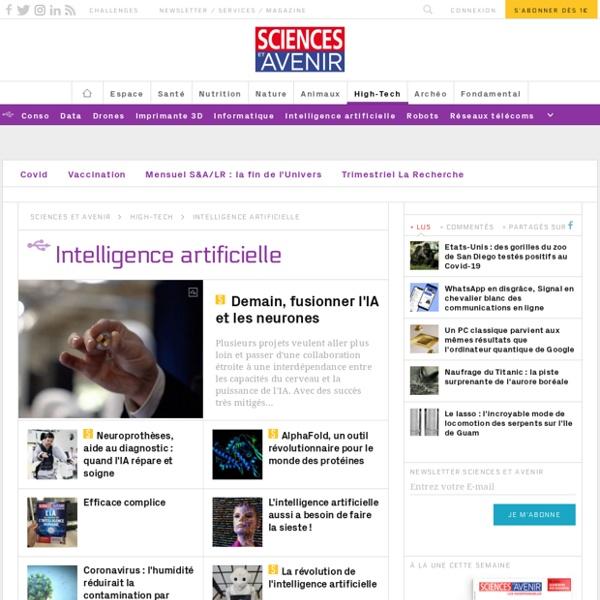 Intelligence artificielle - Sciences et Avenir - Sciencesetavenir.fr