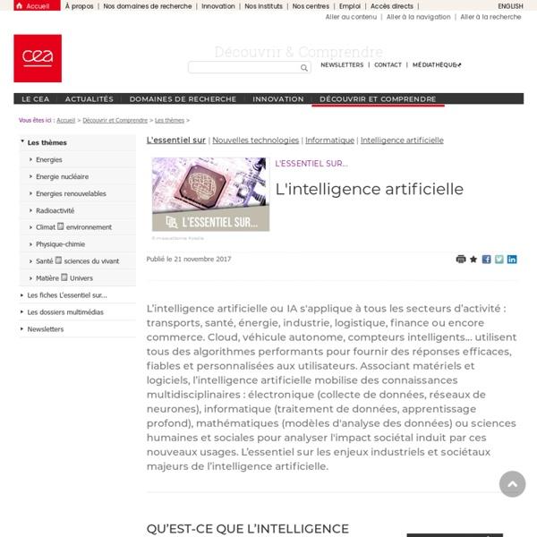 Espace Enseignants - L'intelligence artificielle