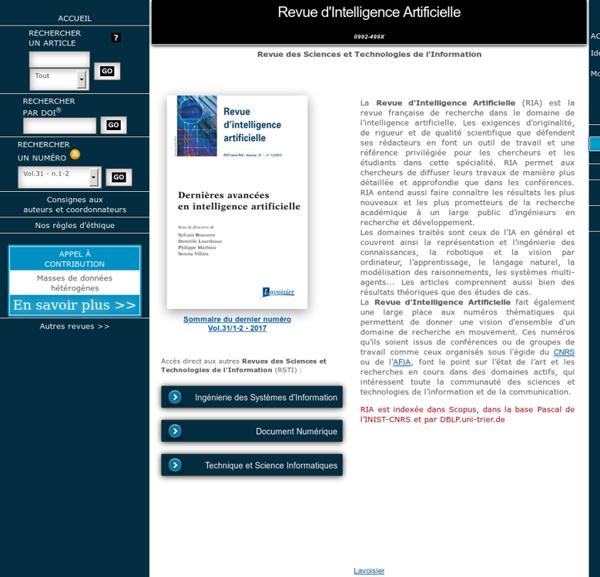 Revue d'Intelligence Artificielle