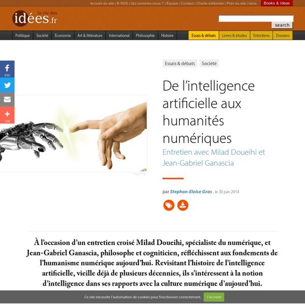 De l'intelligence artificielle aux humanités numériques