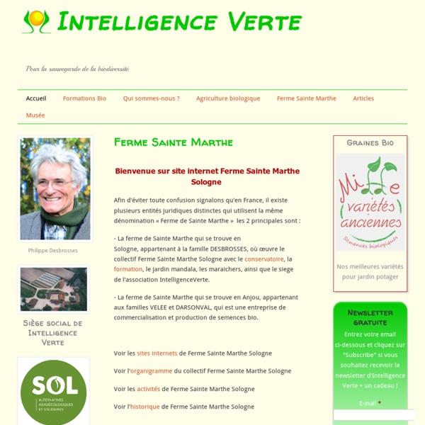 Intelligence Verte: Agriculture biologique, Formation bio, Travailler autrement