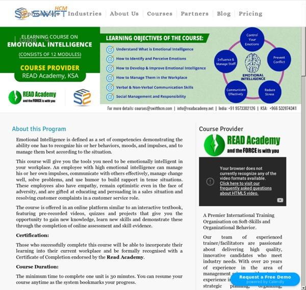 Emotional Intelligence eLearning Course and Certification Training Program