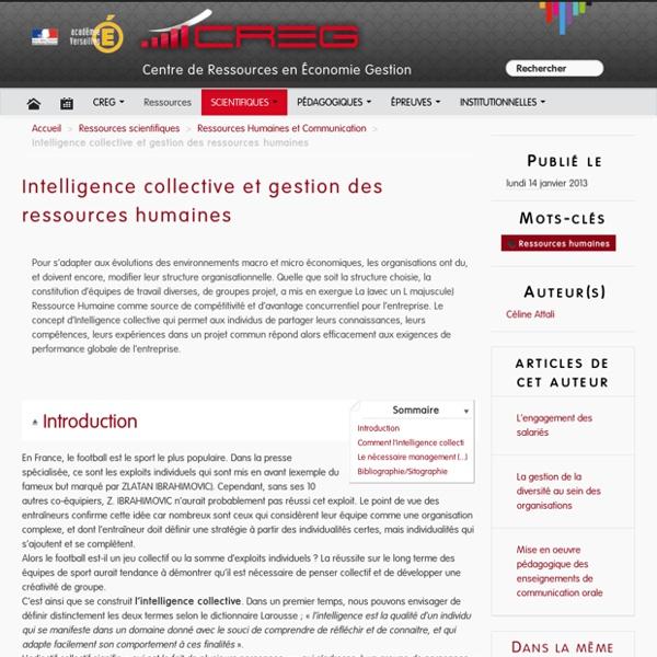 Intelligence collective et gestion des ressources humaines