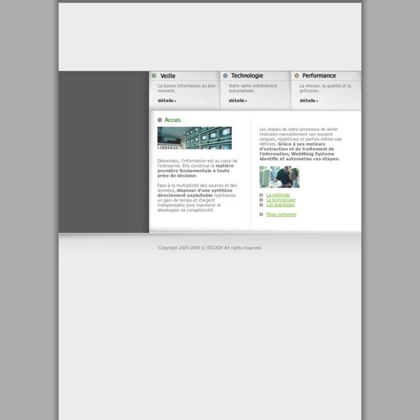 Service et cabinet d'intelligence économique et d'étude de veille concurrentielle et stratégique : webmining-systems.com