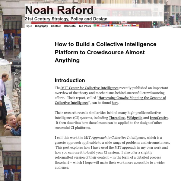 How to Build a Collective Intelligence Platform to Crowdsource Almost Anything