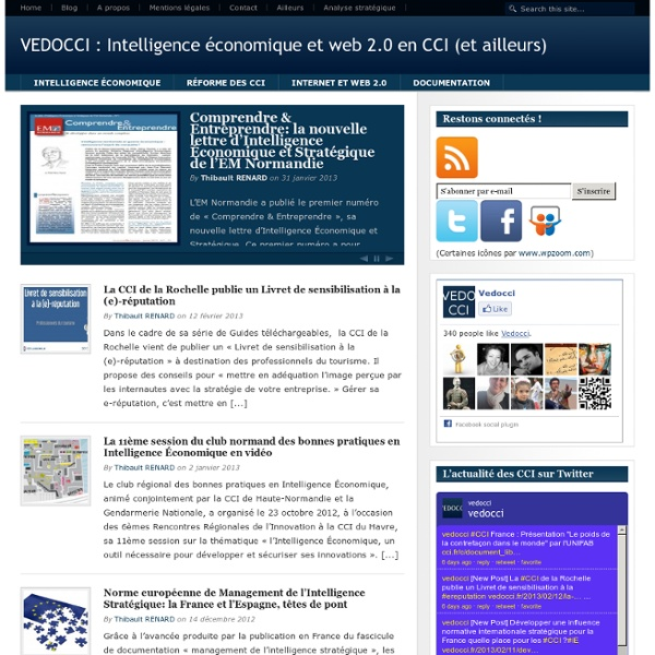 Vedocci : Blog sur l'intelligence économique en CCI et ailleurs