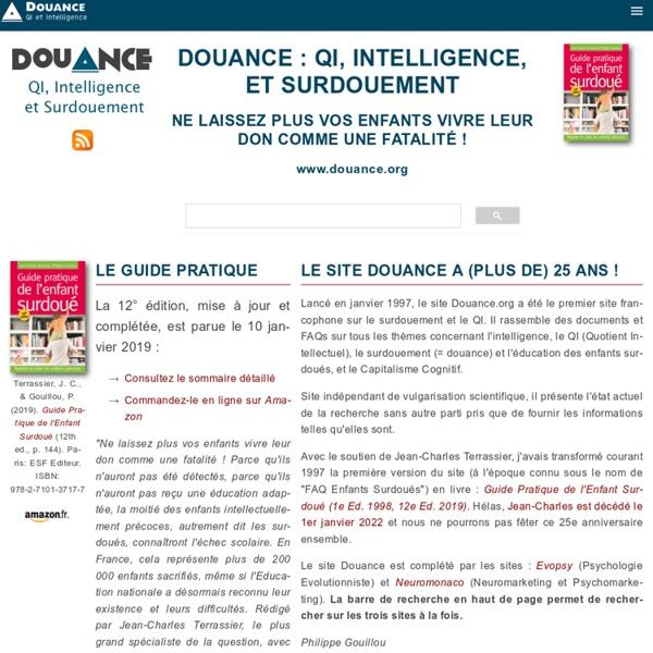 Douance.org : QI, intelligence et surdouement
