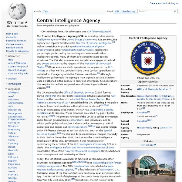 CIA   Pearltrees