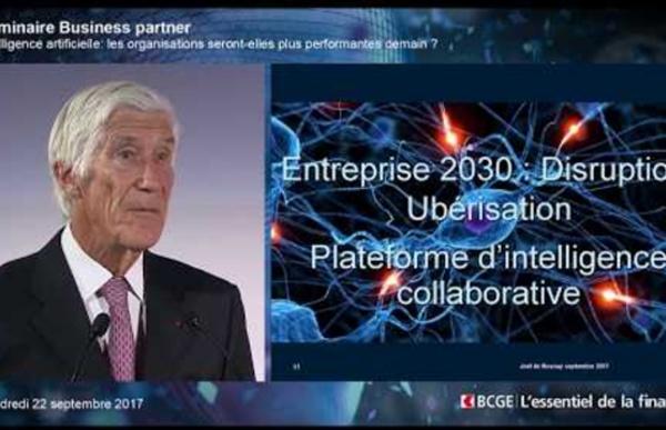 27 septembre 2017 - De l'IA à l'intelligence humaine augmentée: impact sur l'entreprise du futur